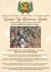 Curtain Up Drama Charity Caroling for Haiyan Victims