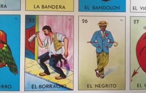 Loteria sheet Borracho y Negrito